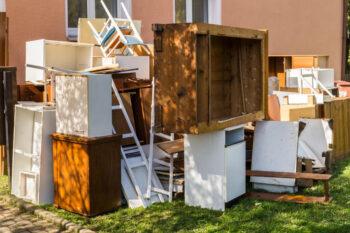Odpady wielkogabarytowe przygotowane do wywozu