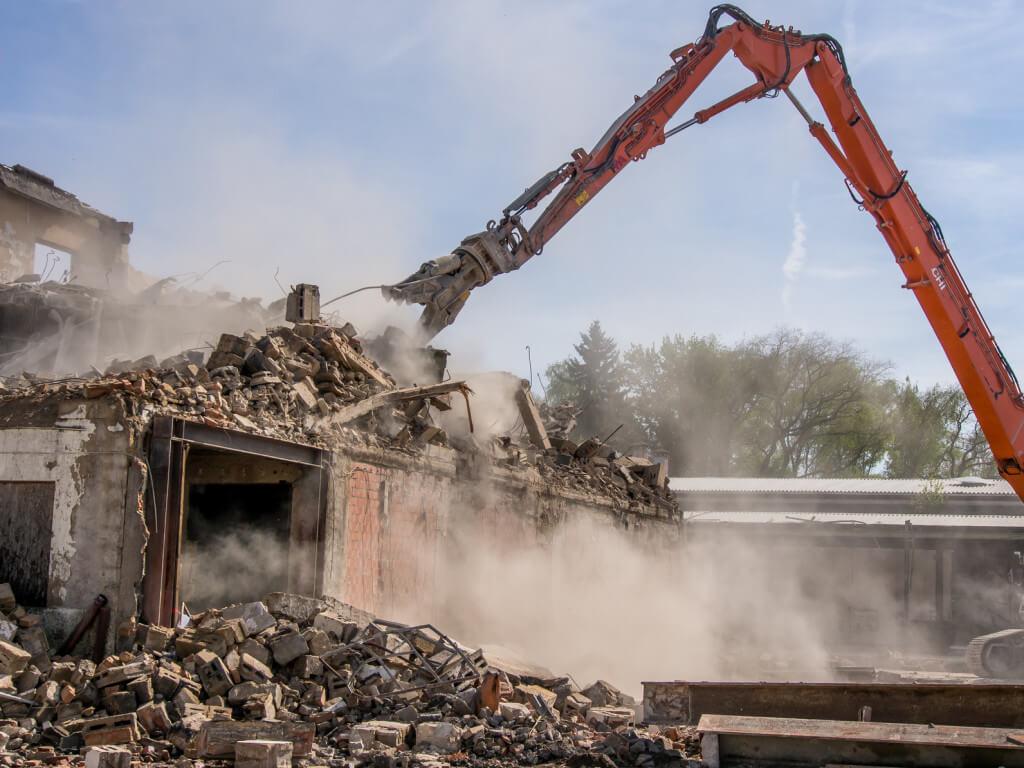 Rozbiórka budynku gospodarczego