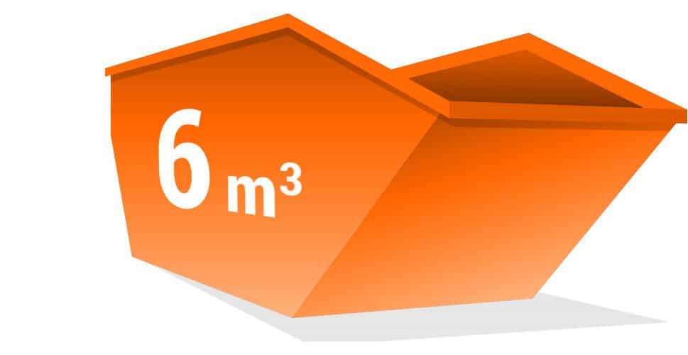Kontener na odpady o pojemności 6m3